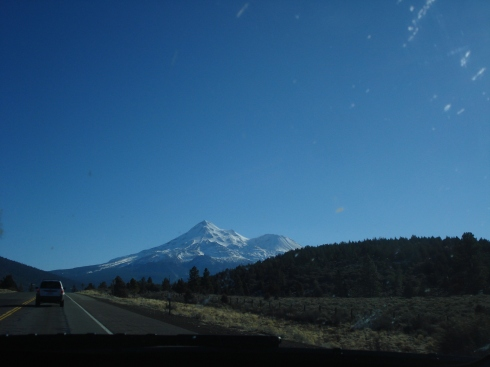 Approaching Mt. Shasta from the North, I felt relieved - there's no place like home, The State of Jefferson.