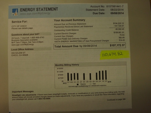 "This is still part of that $122,000 bill - look at the details - over $300 for ""gas procurement""?  What the hell?"