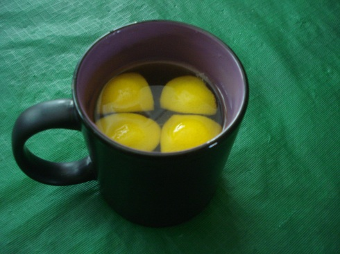 Here's a good tip for a Winter cold - throw some lemon sections in a cup, add a teaspoon of honey and some hot water.